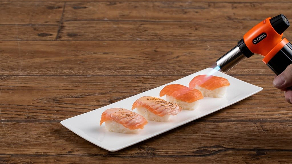 Commercial Kitchen Torches - Grilling Sushi with O-grill Best Professional & Commercial Kitchen Torch