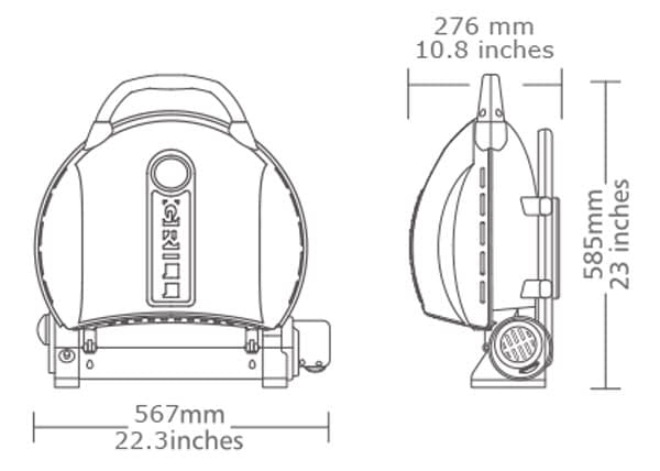 The Specification of 500M Portable Gas Grill